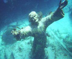 Fl Keys .Christ of the Abyss...Key Largo.  Snorkeling trip 5/31/2013. Breathtaking!