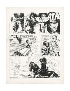 GRZEGORZ ROSINSKI THORGAL LÏLE DES MERS GELEES (T.02, PLANCHE 08 ), LE LOMBARD Planche originale, planche de fin d'épisode, prépublication dans Le Journal de Tintin 162, du 17 octobre 1978. Signé Encre de chine sur papier 36 cm x 47,9 cm (14,17 x 18,86 in.)