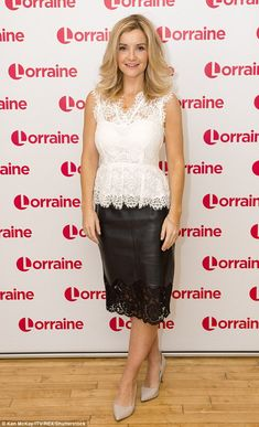 Not fazed: The star recently admitted that she was oblivious to the furore her scanty outf. Helen Skelton, Itv Shows, Just She, Tv Presenters, Blonde Women, Short Tops, Aging Gracefully, Celebs, Celebrities