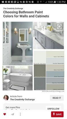 TheCreativeExchange Choosing Bathroom Paint Colors for Walls & Cabinets