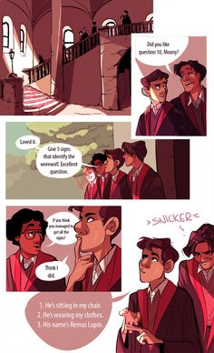 1/2 I love how the Marauders bring Lupin out of his shell