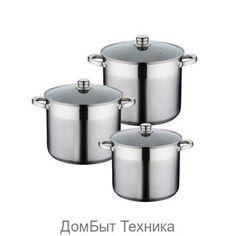 """Кастрюли 15200 """"PH"""" (x2) 3к 9,5/12,0/14л http://vsevsevse.com/posuda-dlya-prigotovleniya-ru/posuda/nabory-kastryul/kastryuli-15200-ph-x2-3k-9-5-12-0-14l/  Цена: Р3382.50"""