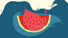 Promo gif for Sketchy Watermelon, Disney Characters, Fictional Characters, Behance, Disney Princess, Videos, Art, Art Background, Kunst
