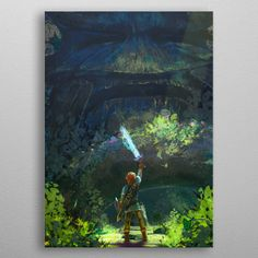 """Beautiful """"The Legend Of Zelda Heroes"""" metal poster created by Thanh Thanh Art. Our Displate metal prints will make your walls awesome. Gaming Posters, Cartoon Posters, Legend Of Zelda, Poster Prints, Hero, Fan Art, Metal, Painting, Beautiful"""