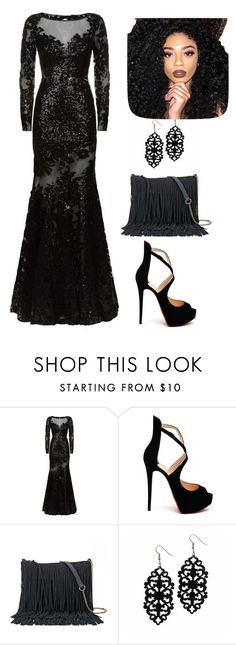 """""""Little miss Lovely"""" by crimsondaylight on Polyvore featuring Jovani, Christian Louboutin, SONOMA Goods for Life and Kylie Cosmetics"""