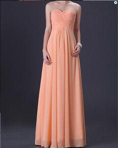 peachy prom dress