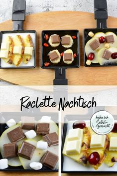 Der beste Raclette Nachtisch You don't need dessert with raclette? I will convince you otherwise! Today I tell you our long-standing family tradition when it comes to raclette desserts! Easy Smoothie Recipes, Snack Recipes, Dessert Recipes, Dessert Drinks, Dinner Recipes, Fall Desserts, Ice Cream Recipes, Party Snacks, Cupcake Recipes