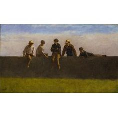 ive Boys on a Wall Date: c. 1875-1880 Artist: Eastman Johnson American, 1824 - 1906