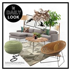 """the daily look: bloom..."" by ian-giw ❤ liked on Polyvore featuring interior, interiors, interior design, home, home decor, interior decorating, Eichholtz, Dot & Bo, H&M and Tom Raffield"