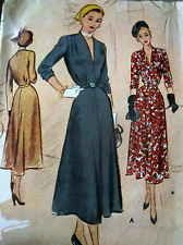 LOVELY VTG 1940s DRESS McCALL Sewing Pattern 14/32