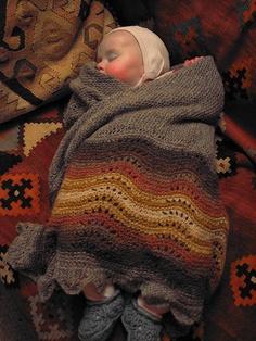 Daisy in her Hap Shawl by gudruncjohnston, via Flickr