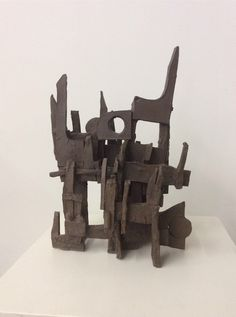 Ceramic Sculpture by Aaron Kllc - mid century, abstract, geometric, brutalist, bauhaus by TheHappyCollective on Etsy https://www.etsy.com/listing/224093312/ceramic-sculpture-by-aaron-kllc-mid