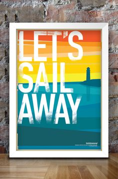 Let's Sail Away vintage style print A3 by thedesignersnursery, $22.50