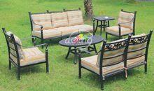 2014 new cast aluminum garden sofa set,cast aluminum outdoor furniture