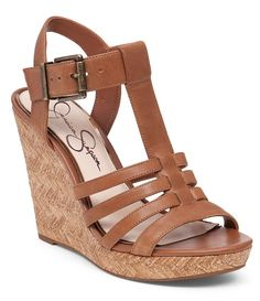 14d9e5b63 Burnt Umber Jessica Simpson Jenaa Platform Wedge Sandals Zapatos Altos