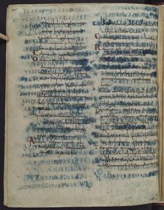 Wolfenbüttel, Herzog August Bibliothek, Guelf. 64 Weiss. (9th century) A more hidden way of recycling concerns the so-called palimpsest, where the words were scraped off a page after which a new text was copied down on it.