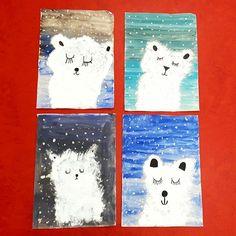 Die Zweitklässler haben einiges an Technik dazugelernt, als wir diese niedlichen Eisbären erarbeitet haben: Farben mischen, Lasur, Tupftechnik... und die Ergebnisse können sich auch wirklich sehen lassen  Auf diese Idee bin ich bei Pinterest gestoßen  #grundschule #grundschulalltag #grundschulideen #grundschulunterricht #kunst #kunstunterricht #winter #winterbild #eisbär #pinterest #artlesson #artproject #lehrerleben #lehreralltag #instateacher #teachersofinstagram