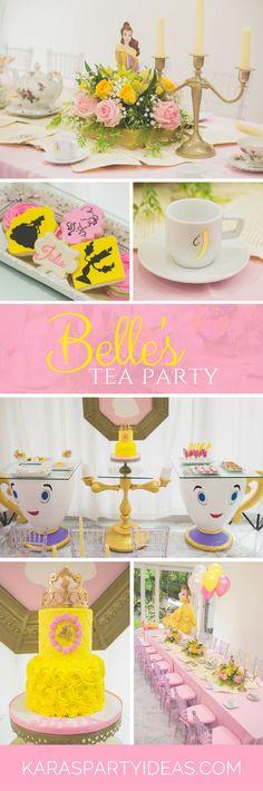Belle's Tea Party via Kara's Party Ideas - KarasPartyIdeas.com