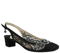 J. Renee Low Heel Slingback Pumps - Faleece