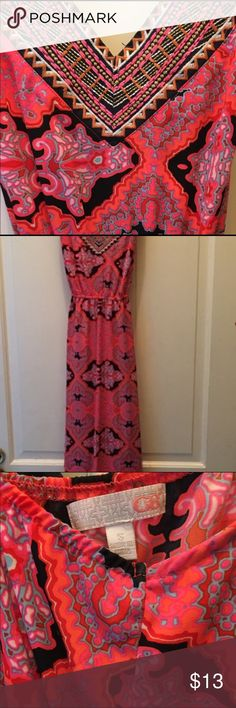 GB maxi dress awesome colors! Adorable maxi dress, I only wore this twice so it's practically brand new. Purchased new from Dillards.  These are truly awesome colors!!! Size small and is true to size, always a smoke free home!!! Gianni Bini Dresses Maxi