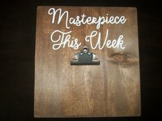 Childrens artwork display, Masterpiece This Week, Artwork holder, Display sign by SignReads on Etsy