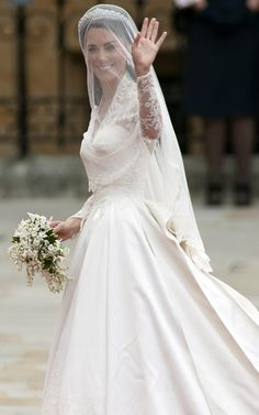 The Royal Wedding of Prince William and Catherine Middleton April 29 2011 | Kate Middleton's wedding dress was designed by Sarah Burton, creative director of Alexander McQueen