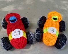Race Car Pattern for the addi express machine/ knitted race car pattern/ addi express pattern/ addi express