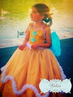 Golden Princess Flower Girl Dress  Custom by FriolinaFancyDesigns, $200.00