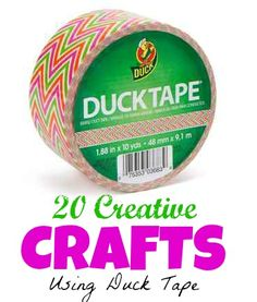Everyone is making things using duct tape, Kids especially seem to love it. Here are 20 crafts using duct tape. Cute Crafts, Crafts To Do, Creative Crafts, Easy Crafts, Crafts For Kids, Arts And Crafts, Duct Tape Projects, Duck Tape Crafts, Tapas