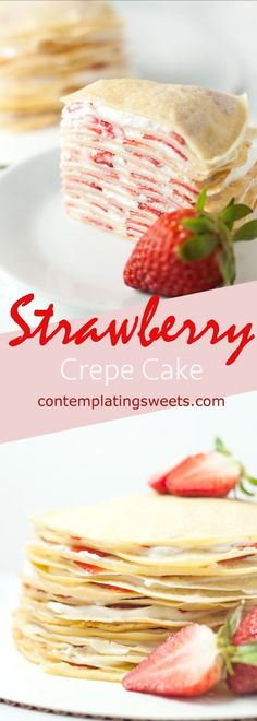 Strawberry Crepe Cak
