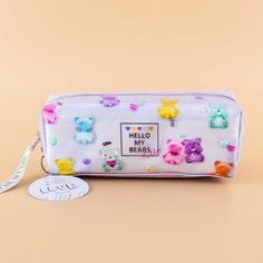 Hello My Bears Pencil Case Japanese Pen, Highlighter Pen, Pen Shop, Kawaii Gifts, Gel Ink Pens, Pens And Pencils, Kawaii Stationery, Bear Print, Cute Charms