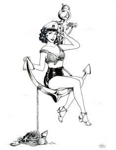 Commission: 1950s Pin-up by TirraMisu on deviantART