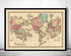 Old world map atlas vintage world map 1864 mercator projection old map of europe 1864 gumiabroncs Gallery