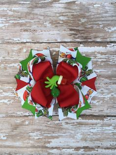 Christmas Hair Bow, holiday hair bow by TheJMarieBoutique on Etsy