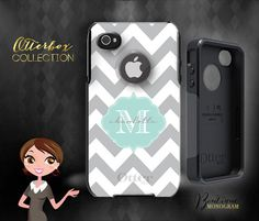 Custom Monogrammed Otterbox Iphone 4, Iphone 5, Iphone 5s, Genuine Otterbox Brand on Etsy, $59.00