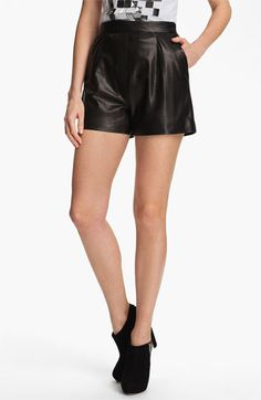 live a little on the edge in a pair of leasther shorts like these from #milly: Milly 'Kelsey' Leather Shorts available at #Nordstrom