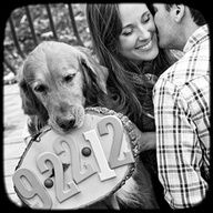 Image detail for -... save the date photo. Would have to be a much smaller sign for your dog  Love this one. Black & White- classic