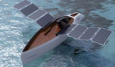 "By way of some clever design by Novague Studio this yacht's solar paneled ""wings"" were created to resemble those of a seagull, hence the name. The coolest part though? They actually ""flap"" in order to position themselves for maximum light absorption."