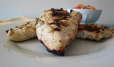 Yogurt Marinated Grilled Chicken #Recipe   Peanutbutterandpeppers.com