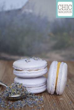 Macaron abricot lavande French macaron apricot lavender