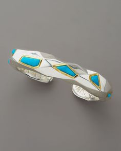 Faceted Turquoise Cuff, Medium - Neiman Marcus