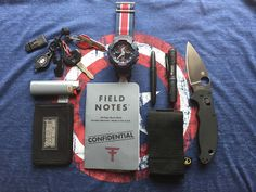 EDC Pocket Dump via Captain America.