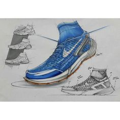 By Ikhsan Noor Erlangga - Nike lunar magista x huarache concept. #rendering…
