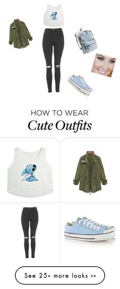 """""""Untitled #1"""" by lenaloveskittles on Polyvore featuring Topshop, Converse and H&M"""