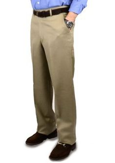 BERLE Tan Super 100s Gabardine Trouser