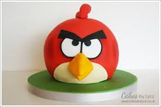 Image result for red angry birds cake