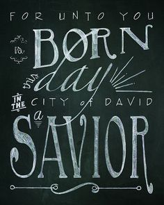 On Sale for Holiday Decorating! Half off. Christmas Bible Verse Printable Chalk Art  2 8x10 by northstudio, $5.00
