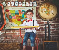 All Smiles on my first day to big boy school.   Back to school mini session.