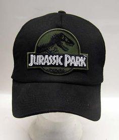 Jurassic Park Camo Logo Baseball Cap Hat w Patch | eBay