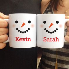 Personalized Snowman Mug Set